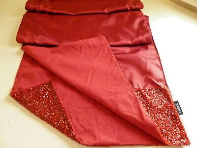 Gorgeous Christmas Red 'NEXT' TABLE RUNNER : 240 x 40cm : A Gift Never Used