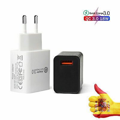 Cargador Corriente Usb Red De Pared Universal Para Movil Android Ios Qc 3.0