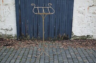 Vintage Gold Painted Iron Lecturn Stand