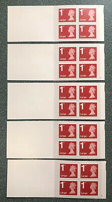 20 X Royal Mail 1st Class Large Letter Stamps (5 books x 4).