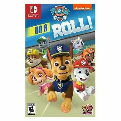 New PAW Patrol on a Roll Nintendo Switch Video Games Nickelodeon