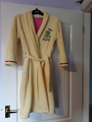 Girls Yellow dressing gown age 9/10 years by Mark's and Spencer