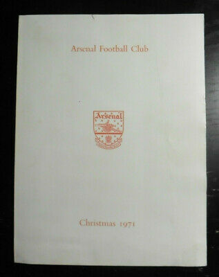 1971 Arsenal Double Christmas Card 1970-71 FA Cup Win Club Crest Gunners