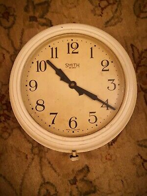 "Smiths 8-day wall clock, 11 1/2"" good working condition"