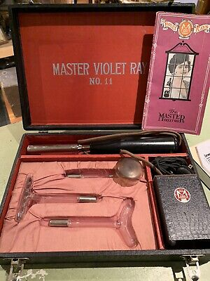 Master Violet Ray No 11 Antique Quack Doctor Electrical Shock Therapy instrument