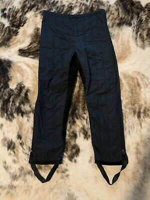 SNOW RIDER Equine Horse Back Riding Pants M Quilted Leather Crotch INSULATED