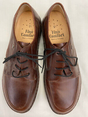 FINN COMFORT MENS Vaasa Coffee Leather Shoes $189.76