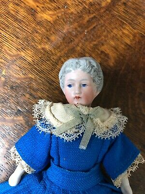Antique German Bisque Grandmother Dollhouse Doll