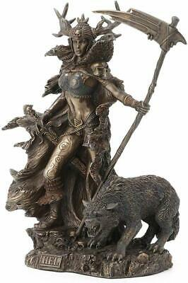 Statue of Hel Norse Goddess of the Underworld Made from Bronzed Resin