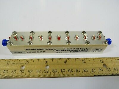 (1 NEW) RF Microwave Bandpass Filter Microwavefilters.It R06.5500-5ASCCT