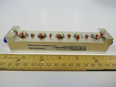 (1 NEW) RF Microwave Bandpass Filter Microwavefilters.It R02.3500-5ASCCT