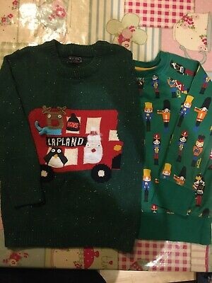 Little Bird Toy Soldiers & Next Christmas Appliqué Jumper 3-4 Yrs.Next Day Post!