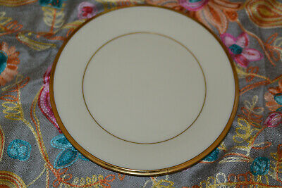 4 Lenox Eternal Bread and Butter Plates 6 3/8 Inches Ivory with Gold Trim