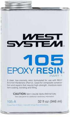 West System 105 Epoxy Resin (1 qt) Clear