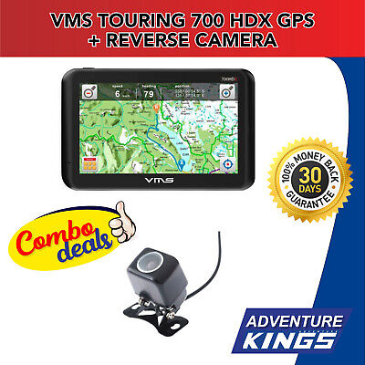 VMS Touring 700 HDX GPS 3000 maps On & Off-Road Navigator + Reverse Camera