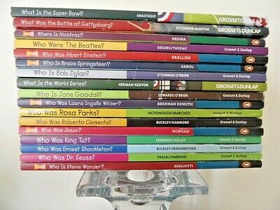 Lot of 12 Who/What/Where/Was Biography History  kids' chapter books