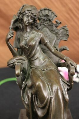 ATHENA GODDESS OF WISDOM SPEAR GREEK MYTHOLOGY Sculpture Statue 100% Bronze Sale