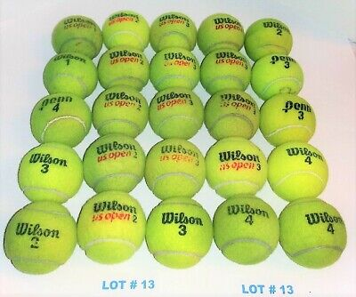 LOT# 13 OF 25 (USED TENNIS BALLS)-Very good to Good condition- REUSE & DOG TOYS
