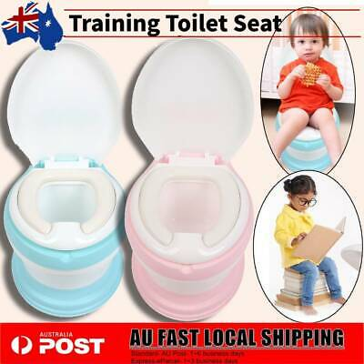 Kids Toilet Seat Baby Child Toddler Potty Training Portable Trainer Chair AU