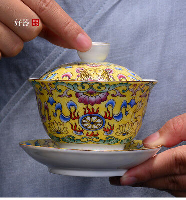China boutique gaiwan 150ml blue-and-white porcelain tureen tea bowl cover lid