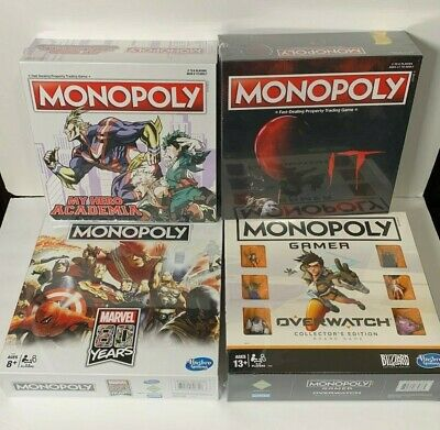 Monopoly MARVEL 80 YEARS,My Hero Academia Board, IT Board Game, Overwatch Collec