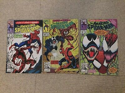 Amazing Spider-Man Lot 361 362 363, Carnage First Appearance, Venom, Marvel
