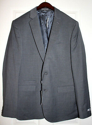 EXPRESS PHOTOGRAPHER fitted Mens 44L Suit Jacket Gray Blazer Sport Coat $248 NWT