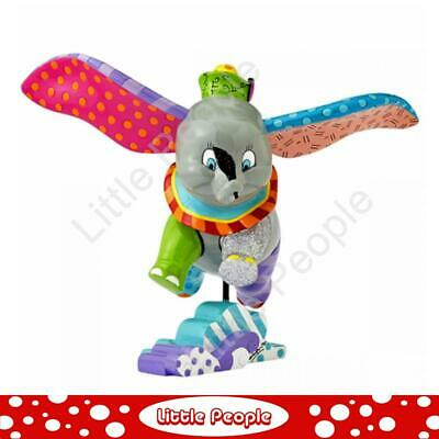 Disney Britto Flying Dumbo Over Clouds Figurine