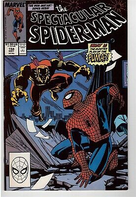 Peter Parker The Spectacular Spider-Man # 154 Sept 1989 Pumar Spidey Kingpin