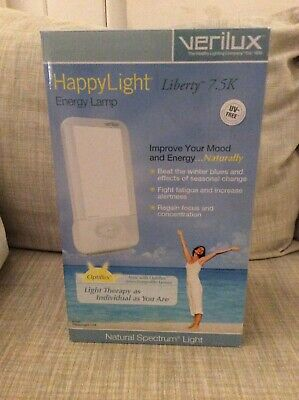 Verilux Happy Light Liberty 7.5K 7500 Energy Lamp Natural Light Therapy