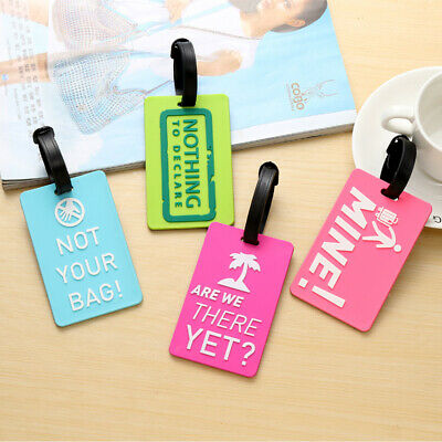 PVC Luggage Tags Label Secure Travel Baggage Suitcase Address Name ID drop