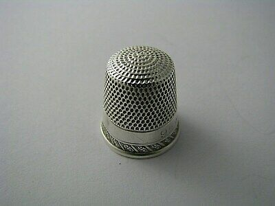 STERN BROTHERS STERLING SILVER THIMBLE Size 9 by Stern Bros.