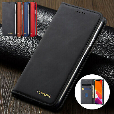 For iPhone 11 Pro Max XS XR 8 Plus 6 7 Cover Leather Magnetic Flip Wallet Case