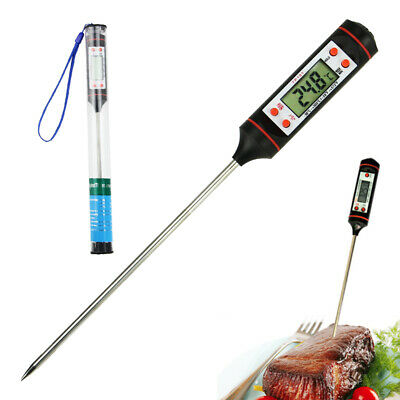 Kitchen Digital Thermometer Meat Cake Candy Fry Food BBQ DinTemperature Pen Re