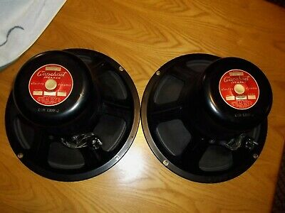 Jensen Capehart 12 Inch Field Coil Speakers Model 81-64 Tested - Video