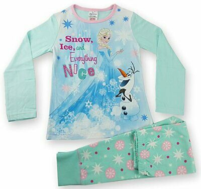 FROZEN snow and ice and everything nice girls pyjamas age 9-10