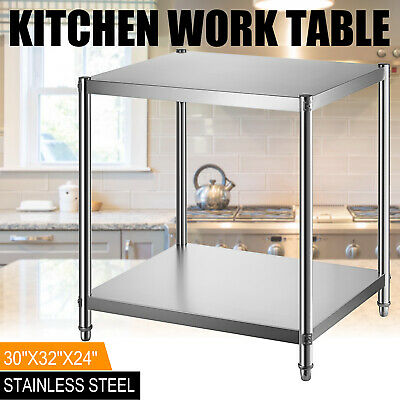 """Stainless Steel Commercial Kitchen Work Food Prep Table Heavy Duty 24"""" x 30"""" USA"""