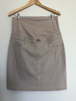 Maternity Skirt 12 Above Knee Beige Target Casual Pregnancy Belly Support