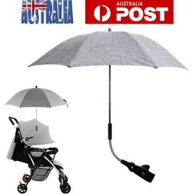 Umbrella Clip On Adjustable Pram Stroller Sun Rain Shade Wheel Chair Outback AU