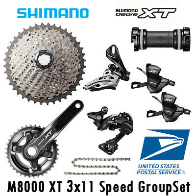 SHIMANO XT M8000 1x11 Speed MTB Group Set 11-46T W//Brake Set Ice-Tech Fin 7 Pcs