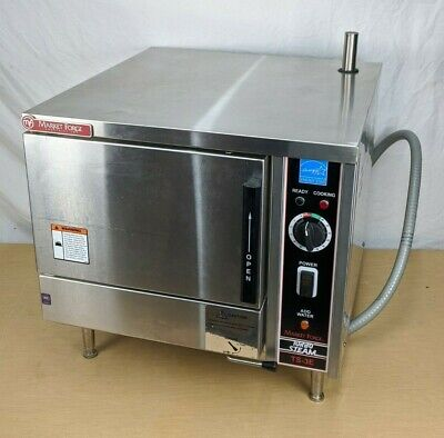 MarketForge TS-3E Food Steamer Oven - boilerless commercial service equipment