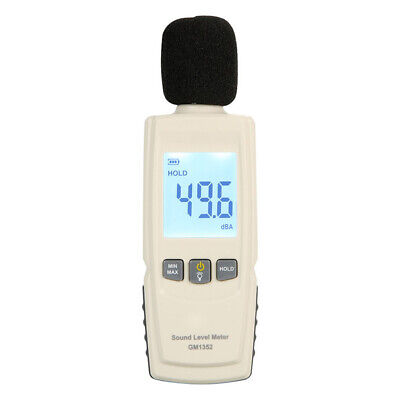 Industrial 30-130dB Microphone Sound Level Meter LCD Display Noise Measurement