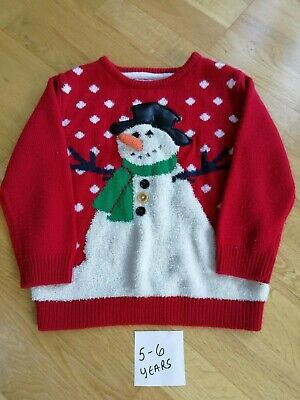 Christmas Snowman Jumper Age 5-6 Years