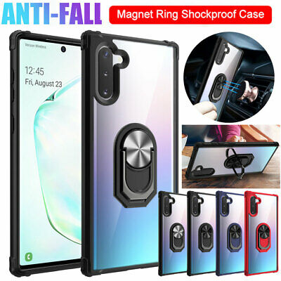 Shockproof Armor Case for Samsung Galaxy S9/Note 10 Plus Hybrid Ring Stand Cover