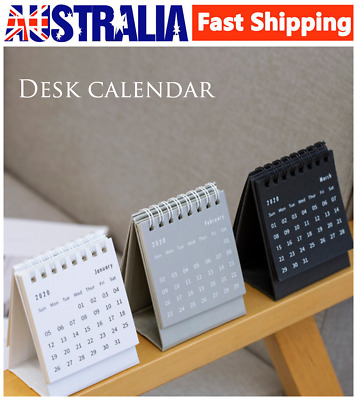 Mini 2020 Simplicity Coil Desktop Calendar Flip Calendar Notebook Planner Decor