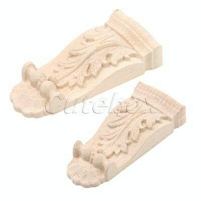 AU Woodcarving Corbels Corner Decal Wood Carved Onlay Applique Decor Unpainted