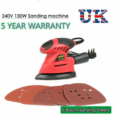 Electric Sander Sanding Machine Hand Power Tools 6pc Sanding Sheets Heavy Duty