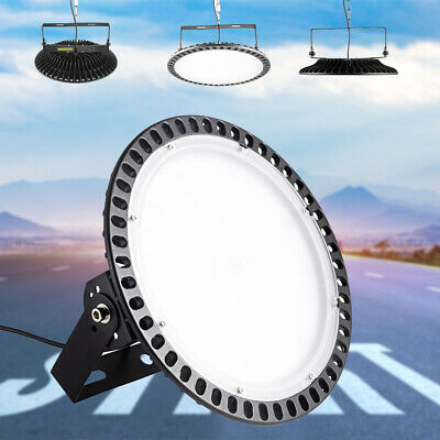 100W 200W 300W LED High Bay Light UFO Warehouse Factory Industrial Gym Lighting