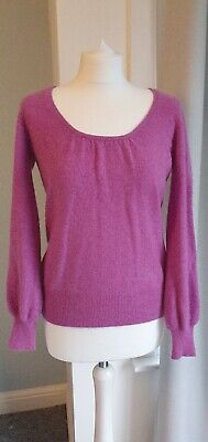 Marks And Spencer Pure Cashmere Jumper, Purple, Womens Size Uk 10