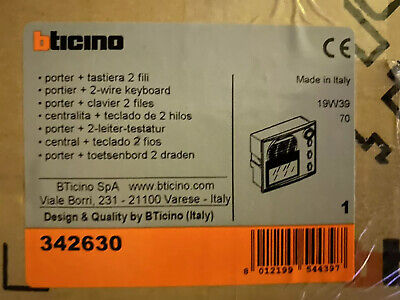 Bticino 342630 Sfera Classic speaker module with graphic display for A/V systems